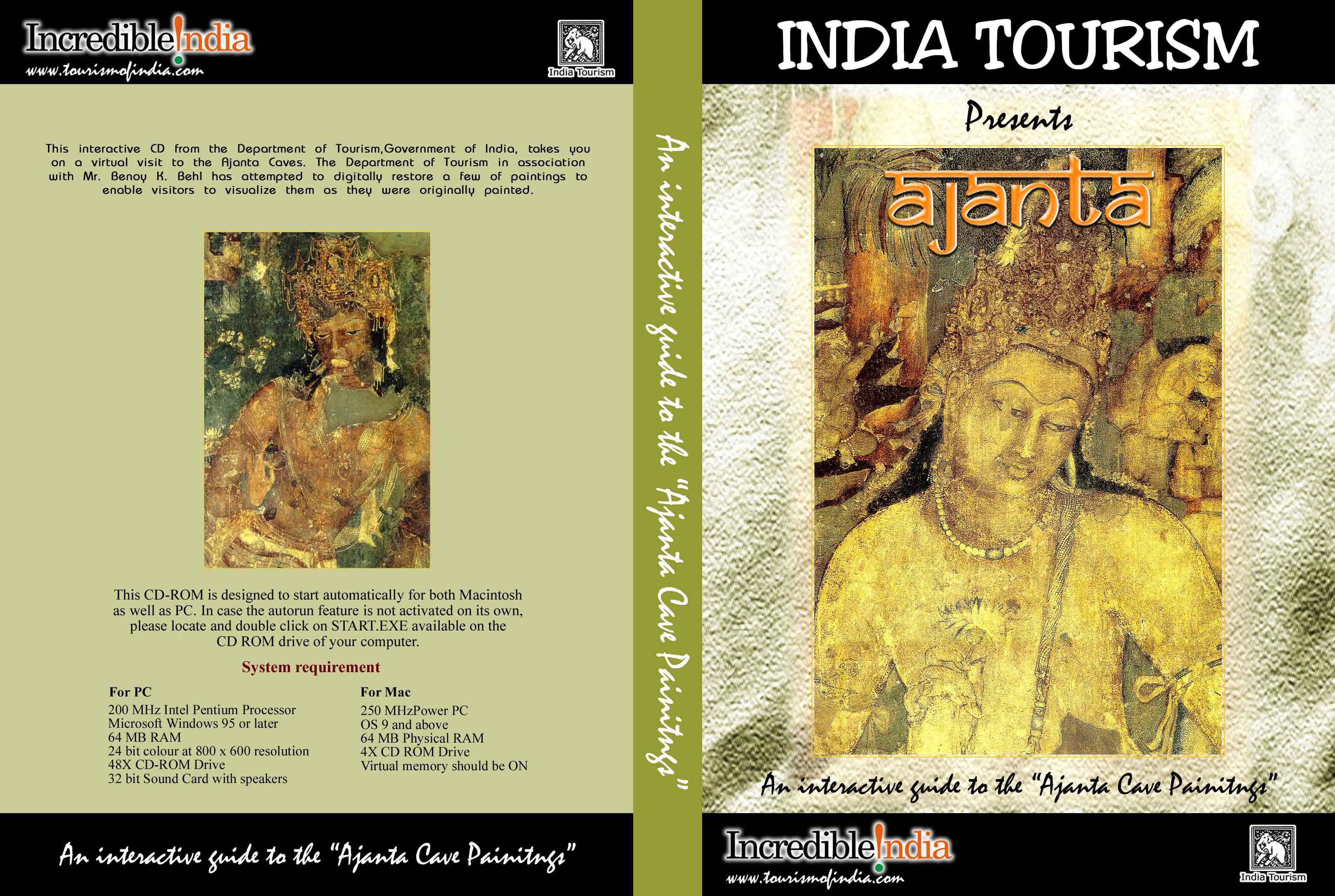 the Department of Tourism Govt of India for the virtual restoration