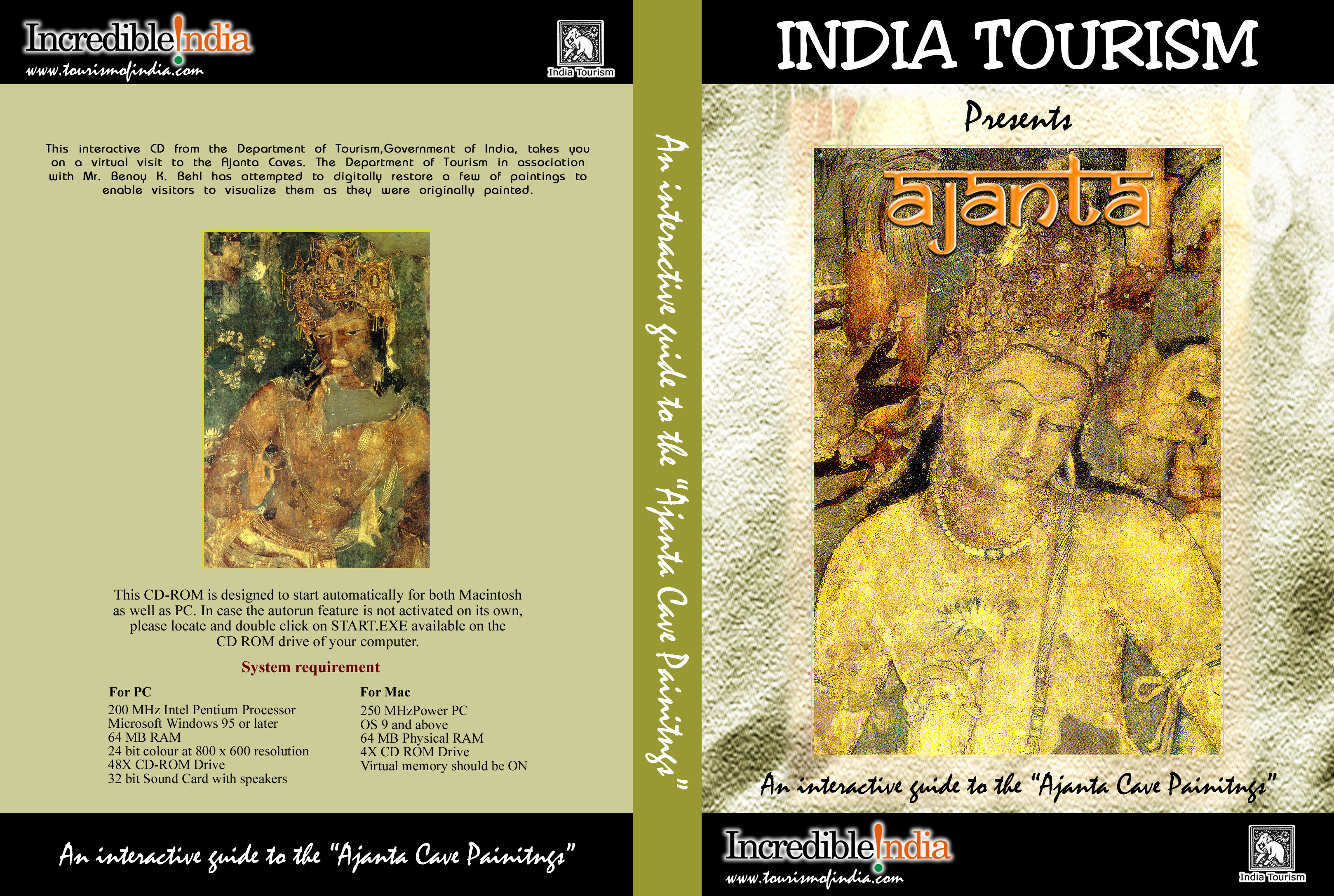 CD ROM for the Department of Tourism Govt of India for the virtual restoration