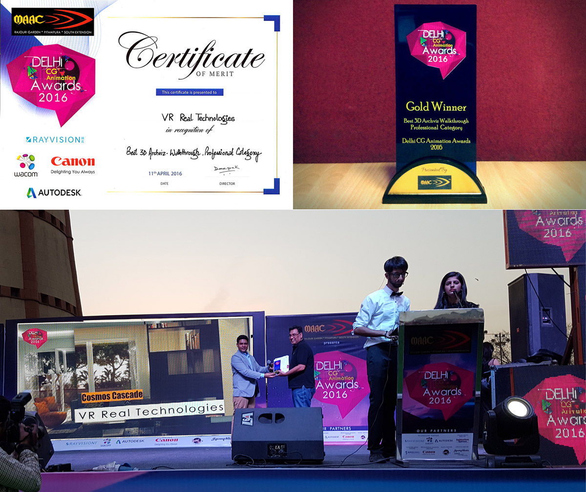 Cosmos Cascade Interiors at the Delhi CG Animation Awards 2016