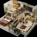 Jaypee Floor plan Render- Block-K
